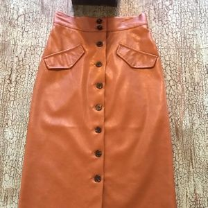 Pencil Faux leather skirt-Size 2